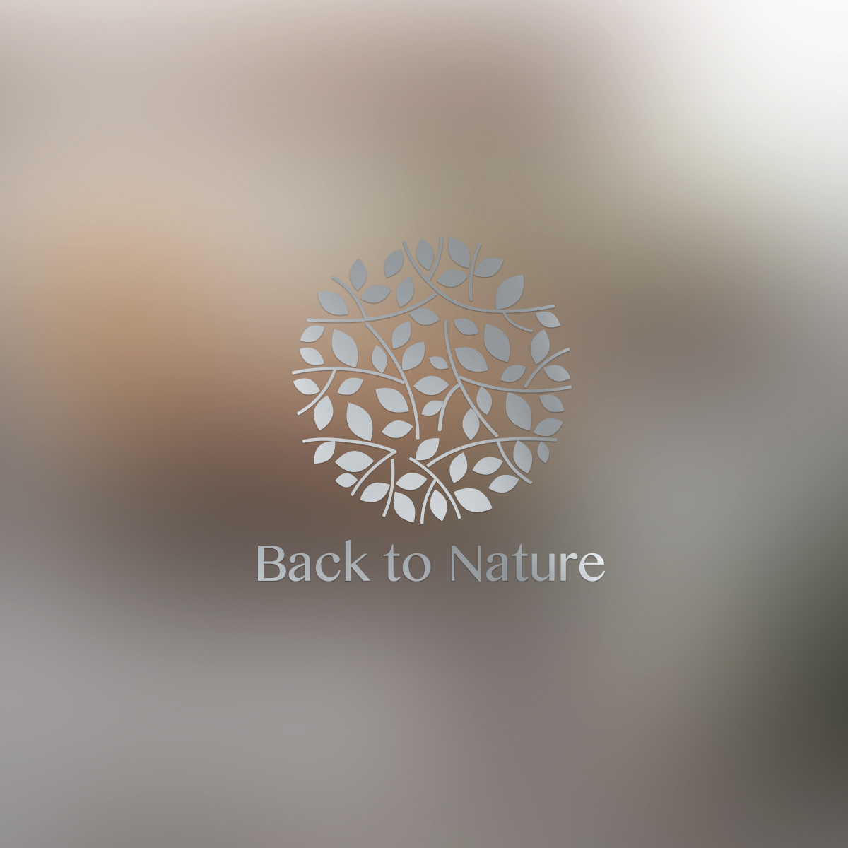 Sustainable serveware logo design for back to nature