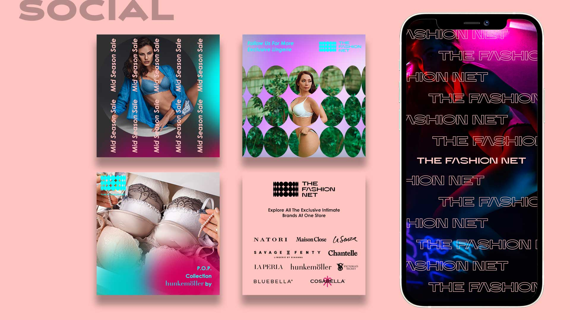 The Fashion Net Social Media Design
